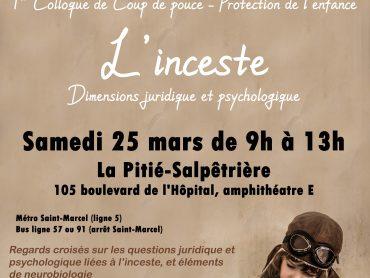 """Colloque : """"L'inceste - Dimensions juridique et psychologique"""""""